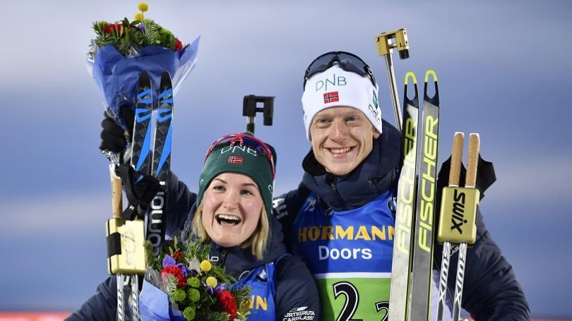 Nóri Olsbuová-Röiselandová a J. T. Bö víťazmi dvojčlenných miešaných štafiet, Slováci nedokončili