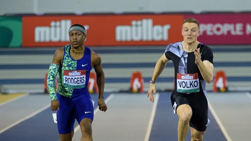 Volko tretí vo finále na 60 m v Liévine, vyrovnal rekord SR