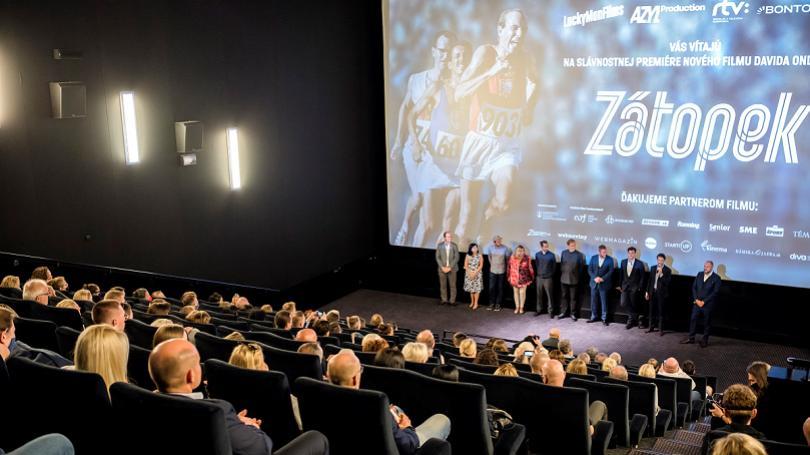 FOTO: Výpravný film Zátopek zožal počas slovenskej premiéry ovácie publika